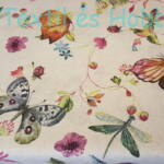 pillangós-virágos dekorvászon