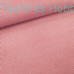 Piros csíkos pamutvászon - 1 mm