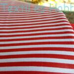 Piros-fehér csíkos pamutvászon