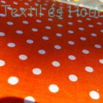 narancs - pöttyös pamutvászon