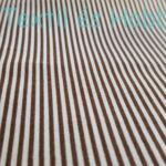 barna-fehér csíkos pamutvászon