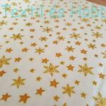 Arany csillagos vajszínű karácsonyi pamutvászon