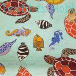 Teknősbékás pamutvászon