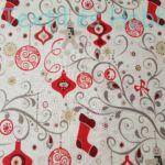 EXTRA minőségű karácsonyi pamutvászon - Indán függő karácsonyi motívumok