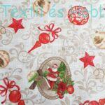 Mikulásos-karácsonyfadíszes dekorvászon