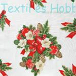 Karácsonyi dekorvászon ecrü alapon