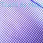 lila kockás pamutvászon