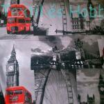 LONDON mintás pamutvászon (160 cm)