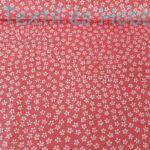 apró virágos pamutvászon rózsaszín alapon