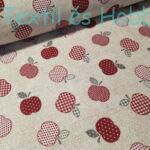 Bordó almás dekorvászon