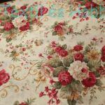 Bordó nagy rózsás dekortextil