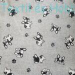 Bulldog kutyás dekorvászon
