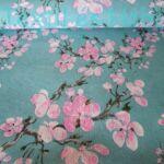 Cseresznyefa virágos dekorvászon