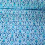 Kék mintás PRÉMIUM pamutvászon