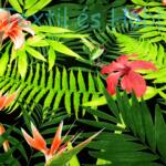 Liliom-papagájvirágos dekorvászon