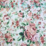 mályva színű rózsás pamutvászon
