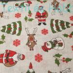 Mikulás, hóember, karácsonyfa, rénszarvasos dekorvászon
