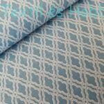 mozaik mintás pamutvászon kék