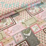 Patchwork pamutvászon - rózsaszín