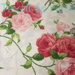 Rózsás pamutvászon 220 cm