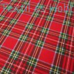 Skótkockás dekorvászon