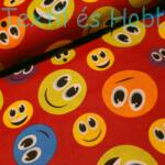 Smiles pamutvászon piros alapon