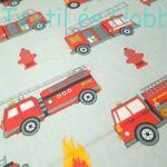 Tűzoltóautós pamutvászon (160 cm)