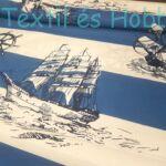 Vitorlásos pamutvászon (160 cm) - kék-fehér csíkos