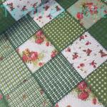 Zöld patchwork kockás pamutvászon