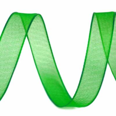 organza szalag - 10 mm - zöld