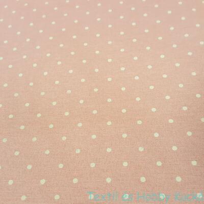 Rózsaszín pöttyös dekorvászon