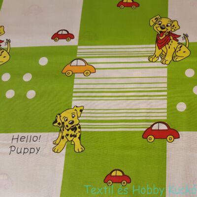 Hello Puppys pamutvászon kisautókkal
