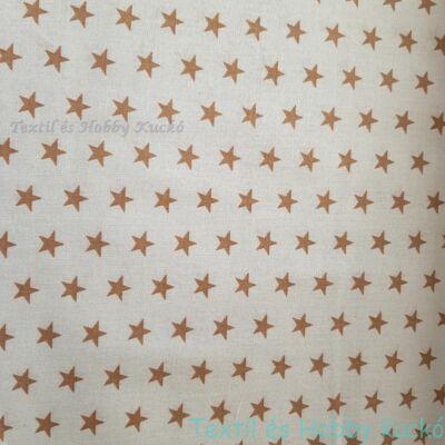 Arany csillagos pamutvászon fehér alapon