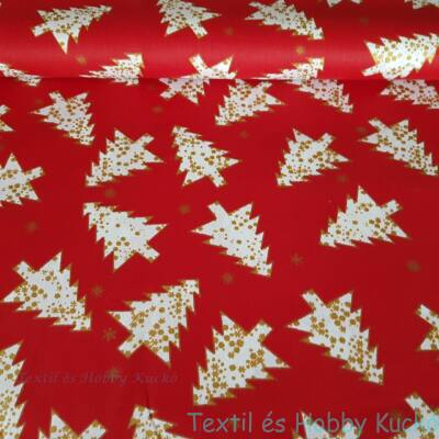 karácsonyi pamutvászon piros alapon