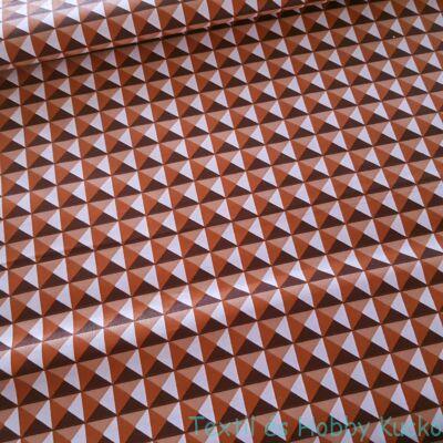 3D piramisos pamutvászon - barna