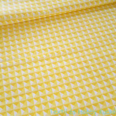 3D piramisos pamutvászon - sárga
