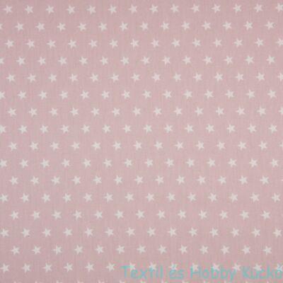 Dusty Pink csillagos PRÉMIUM pamutvászon