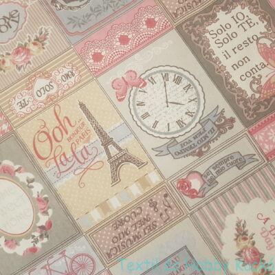 PARIS - patchworkos dekorvászon