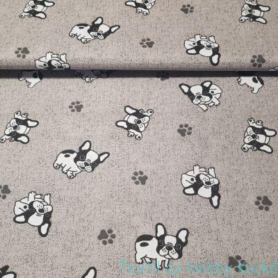 Bulldog kutyás pamutvászon (160 cm)