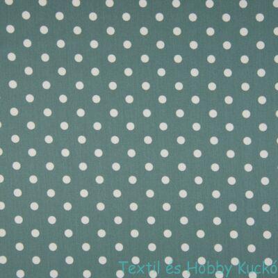 Dusty Green pöttyös PRÉMIUM pamutvászon - 5 mm