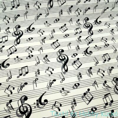 Hangjegyes dekorvászon
