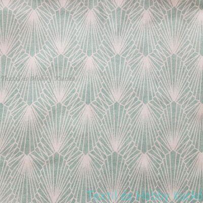 Gyémánt, absztrakt mintás, jade zöld dekorvászons dekorvászon
