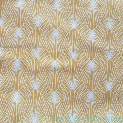 Gyémánt, absztrakt mintás, sárga dekorvászons dekorvászon