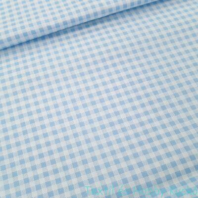 kék kockás pamutvászon