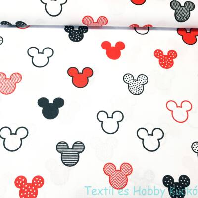 Mickeys pamutvaszon - piros (160 cm)