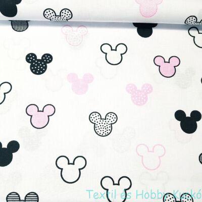 Mickeys pamutvaszon - rózsaszín(160 cm)