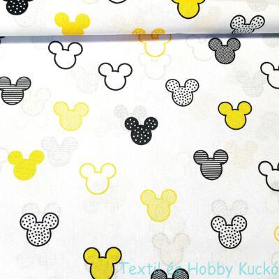 Mickeys pamutvaszon - sárga(160 cm)