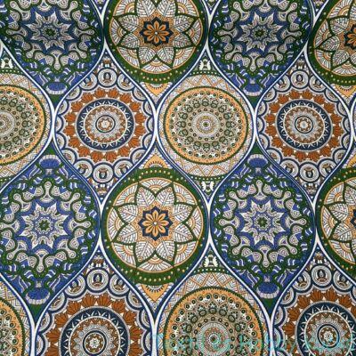 Molly kékes-zöldes mandalás dekortextil