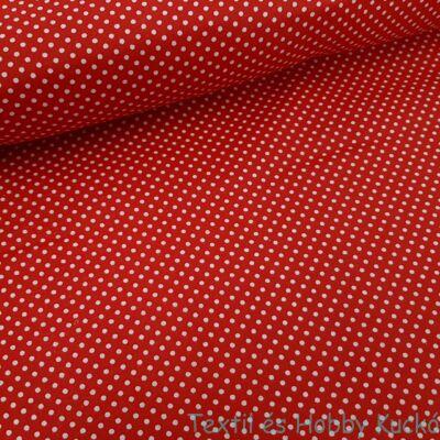 piros - pöttyös pamutvászon