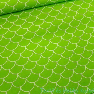 Pikkelyes pamutvászon zöld (160 cm)